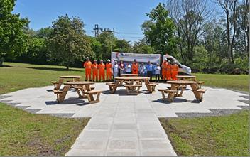 CMS with Friends of Stanley Hall Park at completed picnic area