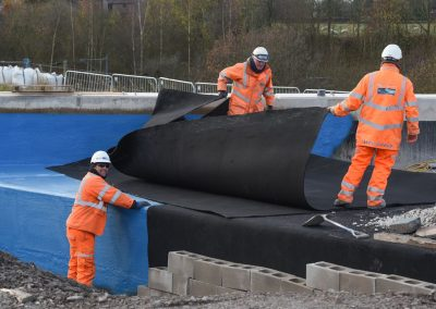 Geotextile membrane protecting bridge waterproofing (51)
