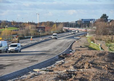 Surfaced carriageway looking west towards Manchester Airport (60)