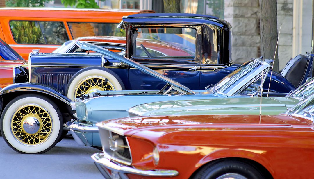 Photograph of classic cars